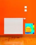 Imagen la termal del calentador del radiador Fotografía de archivo