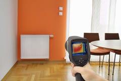 Imagen la termal del radiador Foto de archivo libre de regalías