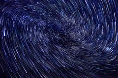 Imagen larga del vórtice del rastro de la estrella de la exposición Foto de archivo libre de regalías