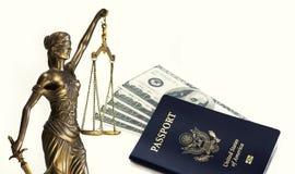 Imagen legal del concepto del viaje de la ley Imagen de archivo libre de regalías