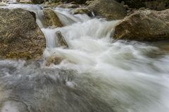 Imagen lenta del obturador del río Fotos de archivo libres de regalías