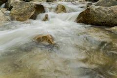 Imagen lenta del obturador del río Foto de archivo