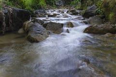 Imagen lenta del obturador del río Fotos de archivo