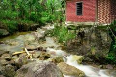 Imagen lenta del obturador del río Foto de archivo libre de regalías