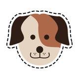 imagen linda del icono del perro Imagen de archivo libre de regalías