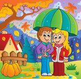 Imagen lluviosa 2 del tema del tiempo libre illustration
