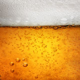 Imagen macra cercana del vidrio de cerveza foto de archivo libre de regalías