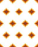 Imagen magnífica del vector del estampado de plores de la estrella Rojo, amarillo, flores azules del mar con el fondo blanco Buen Imagen de archivo