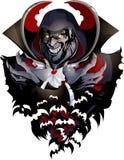 Imagen malvada del vampiro Imagenes de archivo
