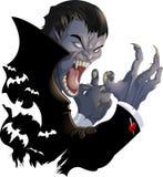 Imagen malvada del vampiro Fotos de archivo