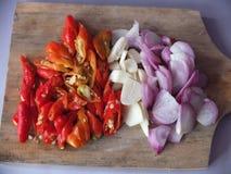 Imagen natural de las especias de la cocina fotografía de archivo
