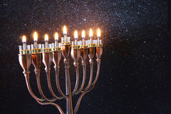 Imagen oscura del día de fiesta judío Jánuca Fotos de archivo libres de regalías