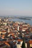 Imagen panorámica de la fortaleza en Sibenik Fotografía de archivo
