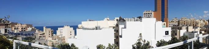 Imagen panorámica de Malta fotografía de archivo
