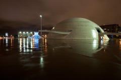 El complejo cultural con la catedral y congreso en Brasilia Fotos de archivo
