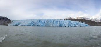Imagen panorámica del glaciar en el gris de Lago fotos de archivo libres de regalías
