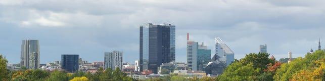 Imagen panorámica del otoño de Tallinn Fotos de archivo libres de regalías