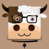 Imagen plana del vector de una vaca Imágenes de archivo libres de regalías