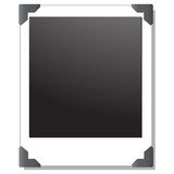 Imagen polaroid en blanco Fotos de archivo