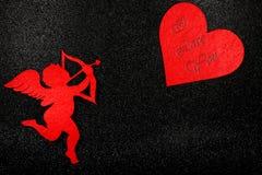 Imagen preciosa para el día de tarjetas del día de San Valentín Foto de archivo