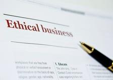 Ética empresarial fotos de archivo libres de regalías