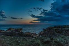 Imagen que sorprende de la puesta del sol en el camino del océano en Australia fotos de archivo libres de regalías