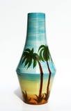 Imagen realista del estilo retro de cerámica israelí del florero. Fotografía de archivo