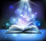 Imagen realista del libro mágico ilustración del vector