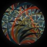 Imagen redonda del fractal del ordenador abstracto elegante moderno de la textura Fotos de archivo