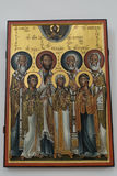 Imagen religiosa en una iglesia ortodoxa Fotos de archivo