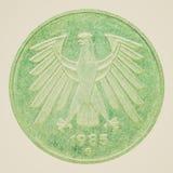 Imagen retra de la moneda de la mirada Imagen de archivo libre de regalías
