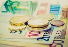 Imagen retra de los euros de la mirada Fotografía de archivo