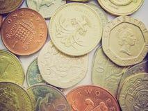 Imagen retra de los euros de la mirada Fotos de archivo