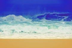 Imagen retra del vintage de una playa en California, los E.E.U.U. fotografía de archivo libre de regalías