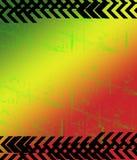 Imagen roja de Jamacia del Grunge del verde amarillo Foto de archivo libre de regalías