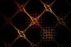Imagen roja del fractal abstracto y marrón geométrica de la rejilla Fotografía de archivo libre de regalías