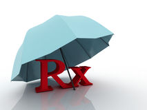 τρισδιάστατο ιατρικό σύμβολο φαρμακείων imagen RX Στοκ Φωτογραφία