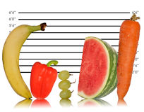 Imagen sana única de la consumición de la fruta Foto de archivo