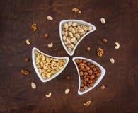 Imagen sana Nuts de la aún-vida de la comida Fotos de archivo