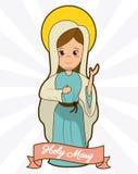 Imagen santa de la fe de la espiritualidad de la dedicación de Maria stock de ilustración