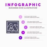 Imagen, imagen, señal, plantilla de la presentación de Infographics de la foto Presentación de 5 pasos stock de ilustración