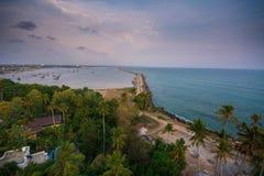Imagen shoted desde arriba de casa de luz de Thangaserry fotografía de archivo libre de regalías