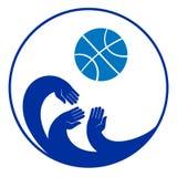 Imagen simbólica del deporte del icono del juego de baloncesto Imagenes de archivo