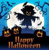 Imagen temática 4 de la muestra del feliz Halloween stock de ilustración