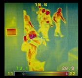 Imagen termográfica Foto de archivo libre de regalías