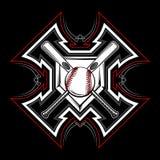 Imagen tribal del vector del béisbol/del beísbol con pelota blanda Fotografía de archivo libre de regalías