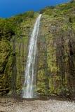 Imagen ultraalta de la resolución de la cascada magnífica Imagen de archivo