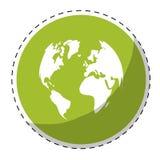 imagen verde del icono de la tierra del planeta Fotografía de archivo libre de regalías