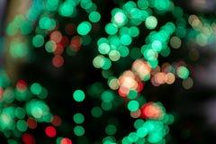 Imagen verde y roja del bokeh del fondo fotografía de archivo libre de regalías