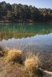 Imagen vibrante hermosa del paisaje de los wi viejos del lago de la mina del hoyo de arcilla Fotos de archivo